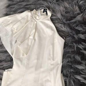 Lulus cream one shoulder dress